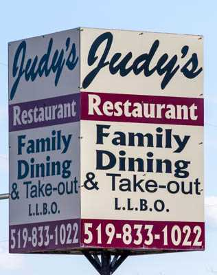 Judy's Restaurant - Erin Ontario
