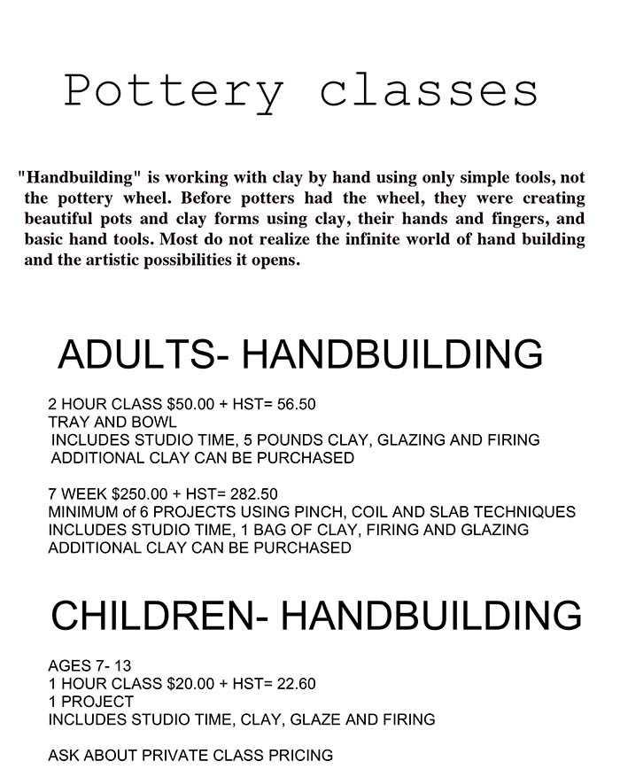 Susan Nichol Pottery Class Ripley