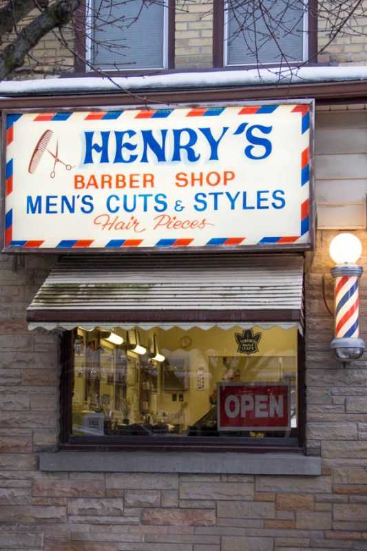 Henry's Barber Shop - Straford Ontario