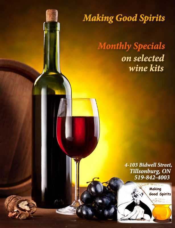 Wine Making Good Spirits Tillsonburg