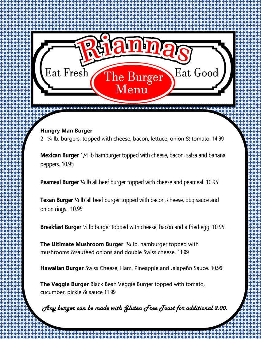Riannas Restaurant -St Marys_Menu-1